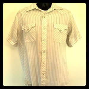Vintage s/s Tem Tex western pearl snap button